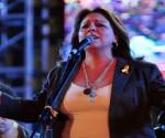 Liuba María Hevia durante concierto. Foto: Ladyrene Pérez / Archivo Cubadebate.