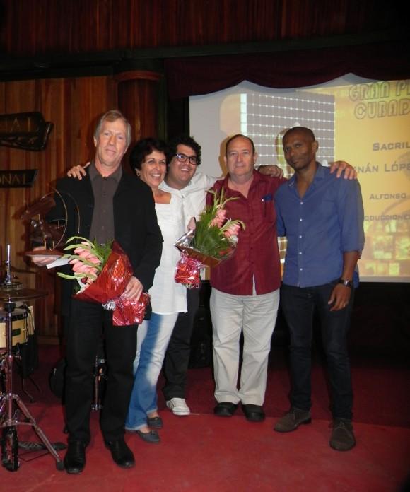 """El gran premio le fue otorgado al pianista  Ernán López-Nussa por el CD-DVD """"Sacrilegio"""", del sello discográfico Colibrí. Foto. Marianela Dufflar/Cubadebate"""