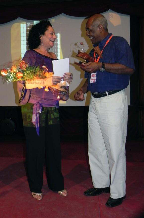 La musicalísima, Beatriz Márquez, obtuvo Premio de Mejor interpretación. Foto Marianela Dufflar/Cubadebate