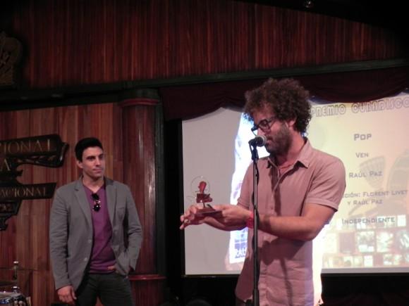 """Raúl Paz ganó Premio en la categoría Pop con su disco """"Ven"""". Foto  Marianela Dufflar/Cubadebate"""