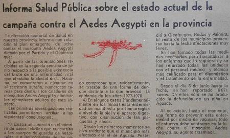 El órgano de Salud del territorio, a través de los medios locales de prensa, mantenía sistemáticamente informada a la población sobre la epidemia y la campaña para abortarla.