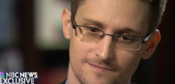 Edward Snowden en NBC anoche. Foto: NBC
