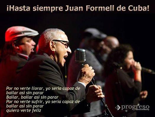 Ofrendas florales de Fidel y Raúl para Juan Formell