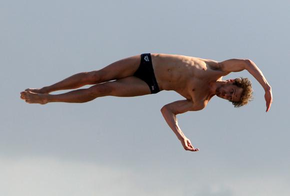 Gary Hunt  de Reino Unido tercer lugar  del Cliff Diving de la Habana. Foto: Ismael Francisco/Cubadebate