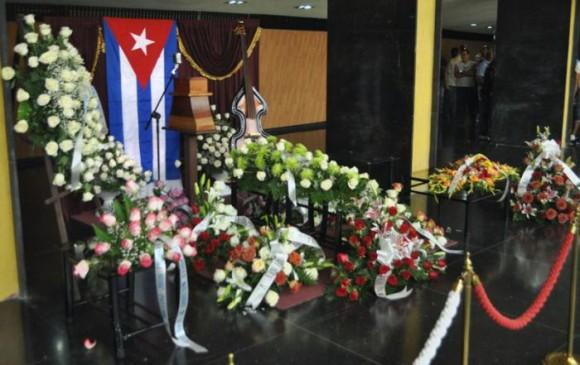 Homenaje a Formell en el Teatro Nacional, La Habana. Foto: Granma