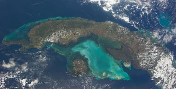Cuba vista desde el Espacio.