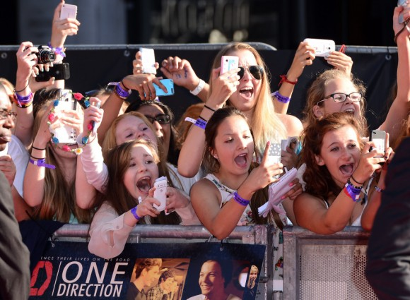Fan de One Direction en Londres, 2013. Foto: Getty