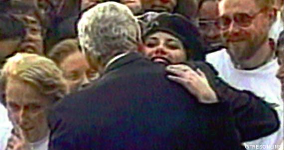 Bill Clinton se encuentra con Monica Lewinsky, 1996. Foto: Gtresonline