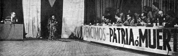 Los mercenarios comparecen ante la prensa nacional e internacional en La Habana.