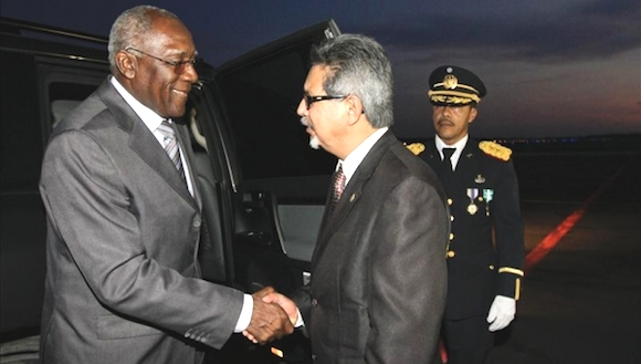 Salvador Valdés Mesa llegó el viernes a El Salvador.