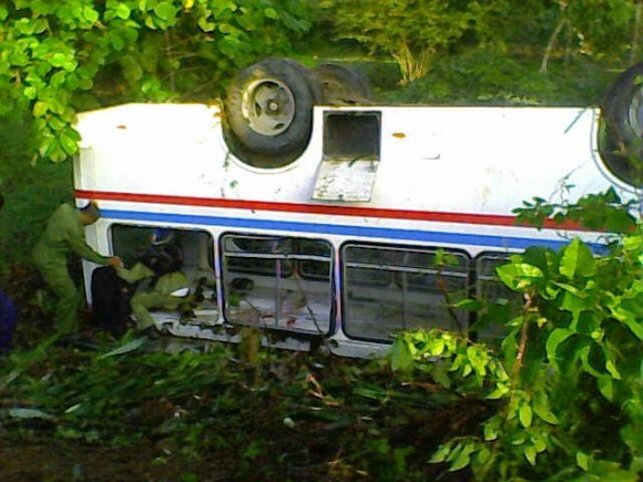 ómnibus accidente en santiago