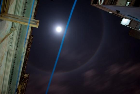 Halo Lunar sobre La Habana. Foto: Kike