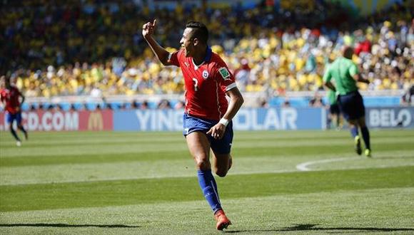 Alexis Sanchez empató para Chile