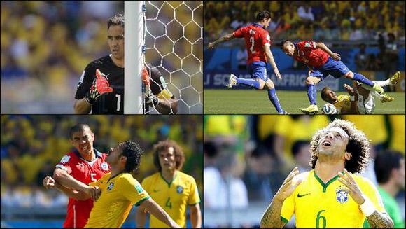 Está por comenzar la segunda parte.  La posesión del balón en el primer tiempo favoreció a Chile 57 por ciento a 43.