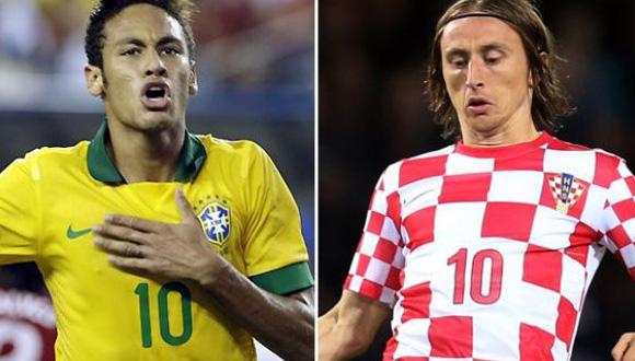 Neymar y Modrić serán los estandartes de Brasil y Croacia en el partido inaugural de la XX Copa Mundial de Fútbol.