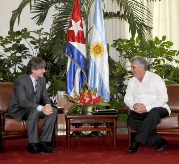 Cuba: Recibe Miguel Díaz-Canel Bermúdez a Vicepresidente de Argentina