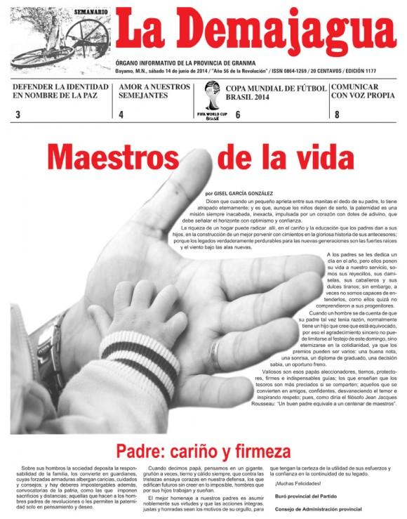 Periódico La Demajagua, provincia Granma, sábado 14 de junio de 2014