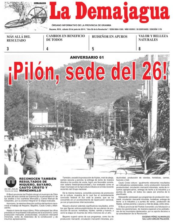 Periódico La Demajagua, provincia Granma, sábado 28 de junio de 2014