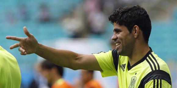 Diego Costa será titular.