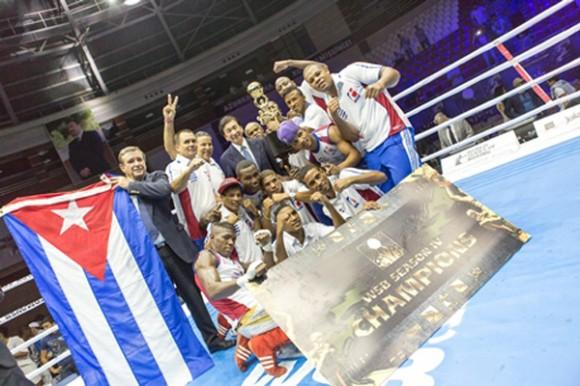 Domadores de Cuba, campeones de la Serie Mundial de Boxeo. Foto Cubadebate