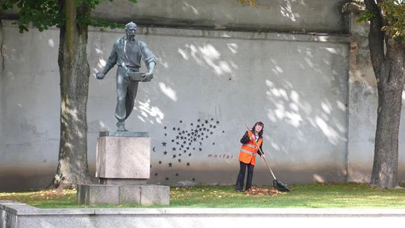 El cosechador, Kaunas, Lituania