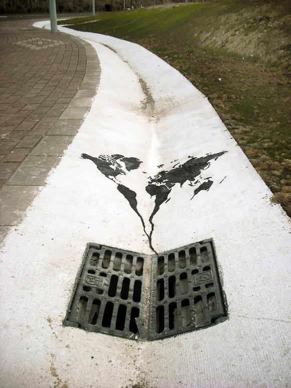 El mundo se va por el desagüe, España