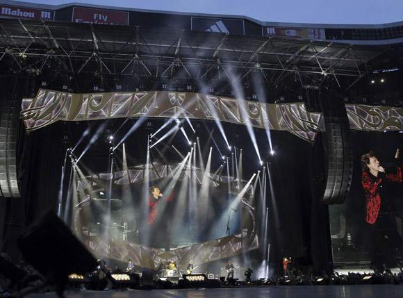 scenario del concierto de los Rolling Escenario del concierto de los Rolling Stones en Madrid. Foto:  (EFE)