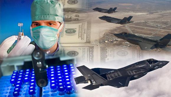 Estados Unidos tiene gastos militares 13 veces superiores a los de los gastos en investigaciones médicas A