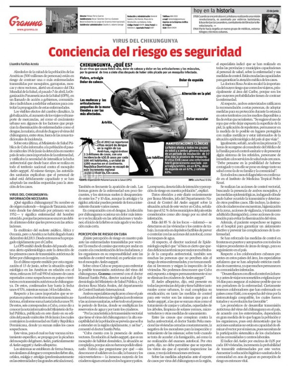 Periódico Granma, lunes 23 de junio de 2014