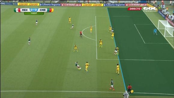 Imágen del primer gol anulado.