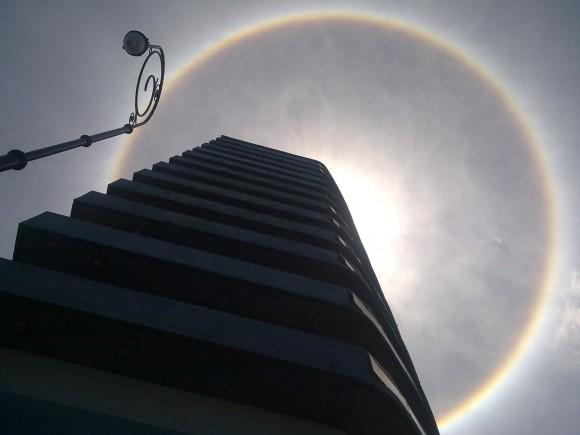 Halo Solar desde el hotel Deauville. Foto: Nelson Suárez Marrero