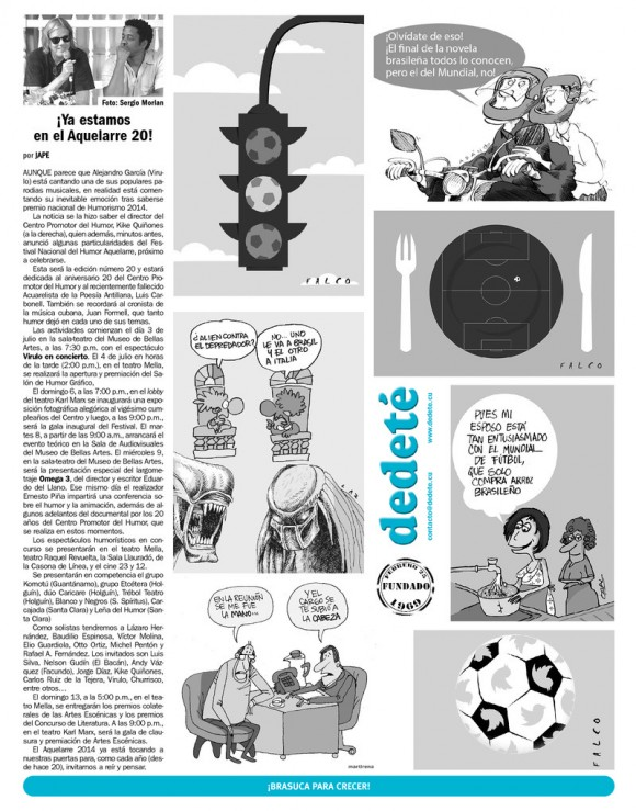 Periódico Juventud Rebelde, domingo 22 de junio de 2014