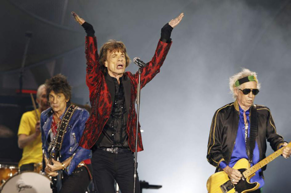 os Rolling Stones, durante su concierto en el Santiago Bernabéu de Madrid, España. Foto: EFE.