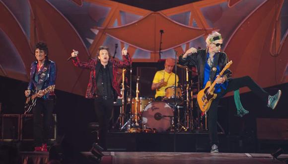 Los Rolling Stones, durante su espectáculo en el Santiago Bernabéu. Foto: EFE.