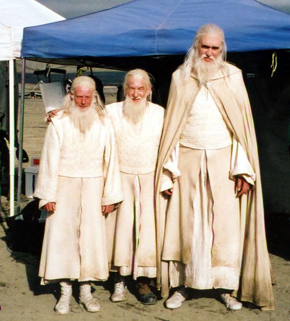 Los dobles de Gandalf para las escenas peligrosas