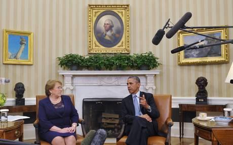 Michelle+Bachelet+se+reúne+con+Barack+Obama+en+la+Casa+Blanca