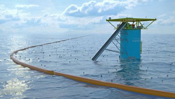 The Ocean CleanUp, un proyecto para limpiar los océanos. Foto: (Tomada de Russia Today).