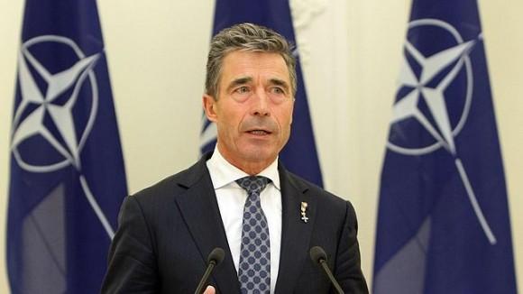 El Secretario General de la OTAN, Anders Fogh Rasmussen. Foto: AFP