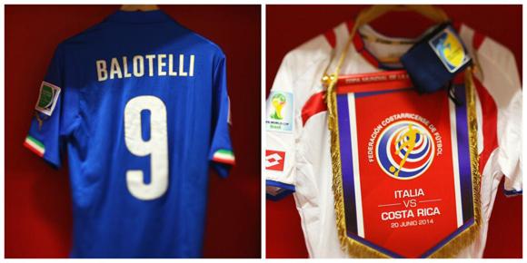 En los vestuarios, Italia-Costa Rica. Foto: FIFA