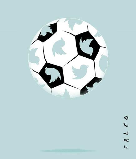 Fútbol y Twitter. Autor: Falco