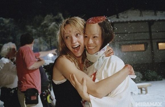 Uma Thurman y Lucy Liu son buenas amigas cuando no están grabando las escenas de Kill Bill