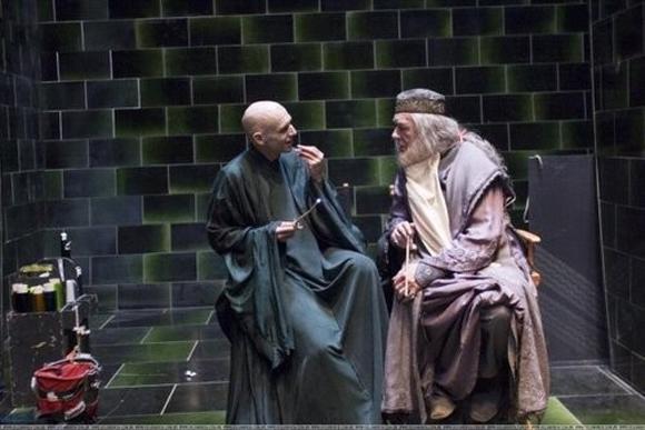 Voldemort y Dumbledore no parecen ser grandes rivales en esta toma.