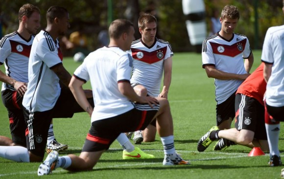 alemania en el entrenamiento