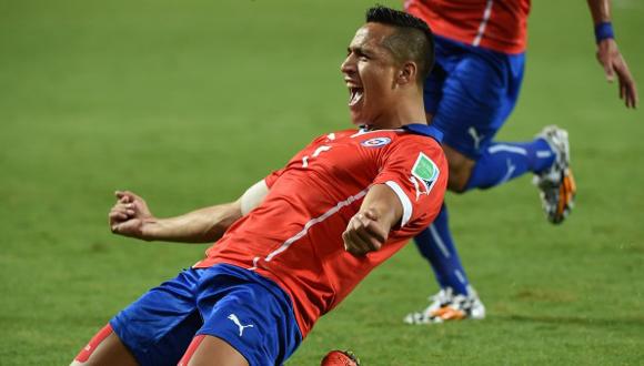 Alexis marcó el primero del encuentro.