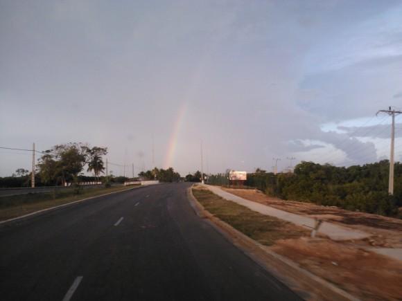 Arcoiris en la autopista de Varadero. Foto: Iraldo Pérez