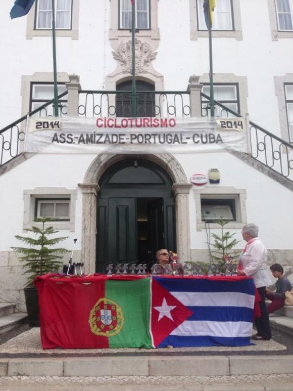 Meta de la Caravana Ciclística por los Cinco y la Revolución Cubana en  Portugal, el 8 de junio de 2014. Foto: EmbaCuba Portugal/Cubadebate