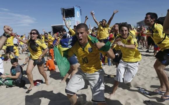 celebran en colombia el gol contra grecia