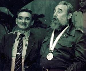 Fidel Castro y Eugenio George (izquierda). Foto: Archivo