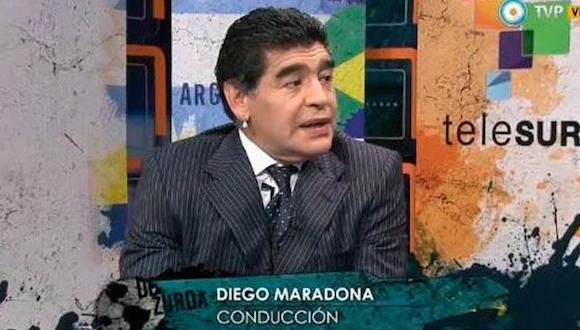 """Según el Pibe de Oro, """"Uruguay tiene un jugador que si no está entre los tres mejores delanteros del mundo pega en el palo"""", en referencia Suárez, autor de los dos goles del equipo que dirige Oscar Washington Tabárez."""