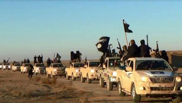 Fuerzas terroristas del Estado Islámico de Iraq y del Levante. FOTO: AP